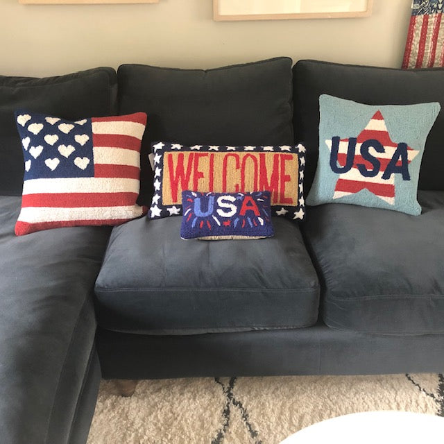 Hooked Americana Cushions in the UK