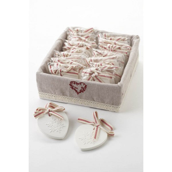 Cranberry Scented Heart Decoration