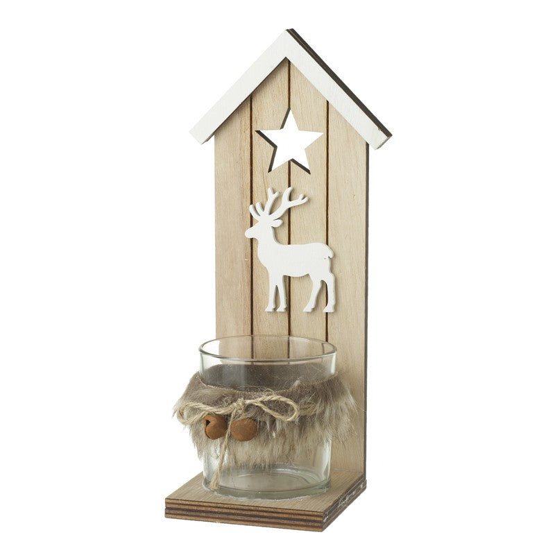Deer and Star T-Light Holder