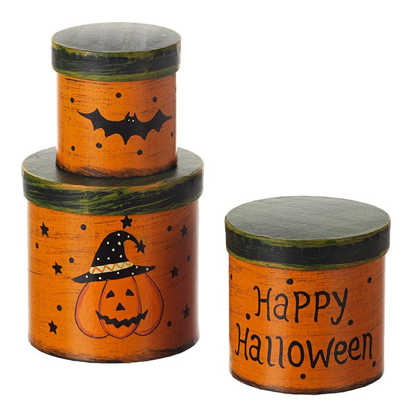 Set of 3 Happy Halloween Shaker Boxes