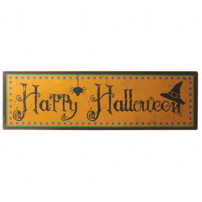 Happy Halloween Tin Sign