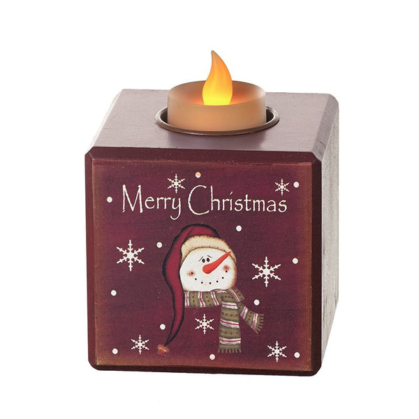 Merry Christmas Candle Holder with LED