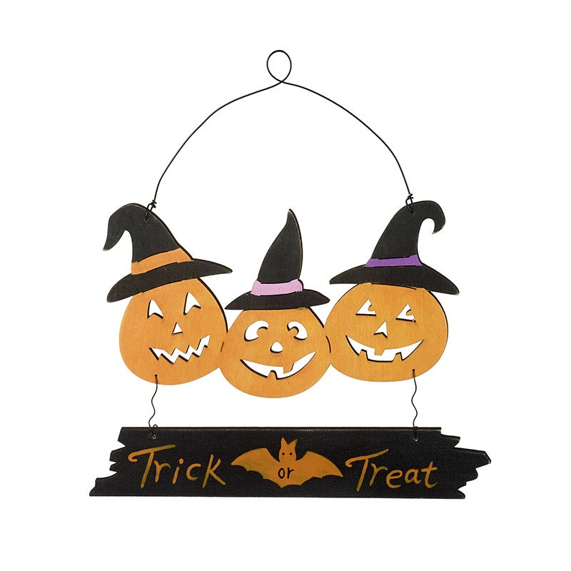Trick or Treat Sign with Jack O' Lanterns