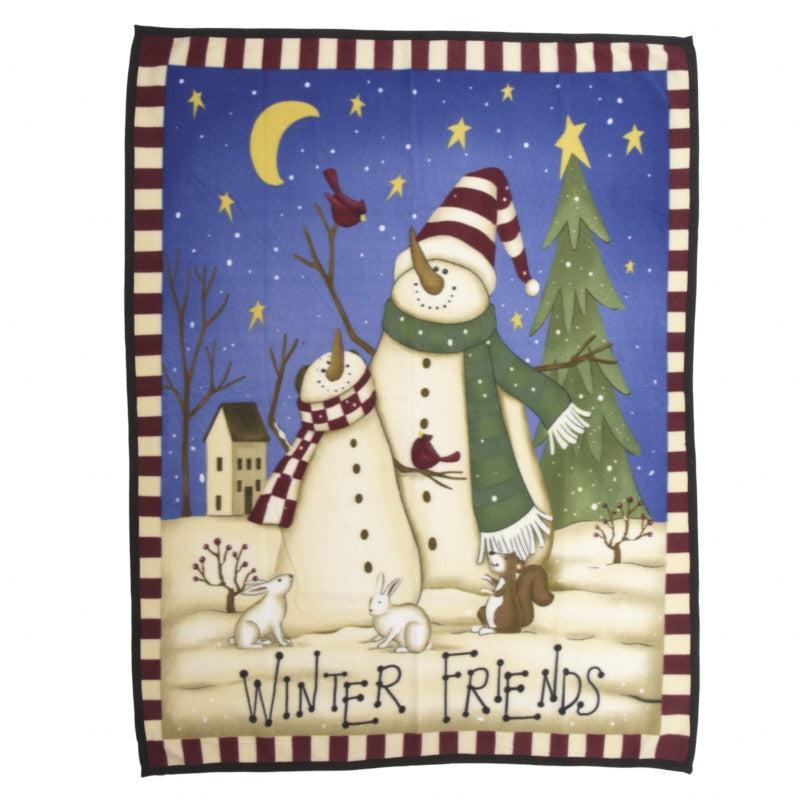 Snow Friends Fleece Throw