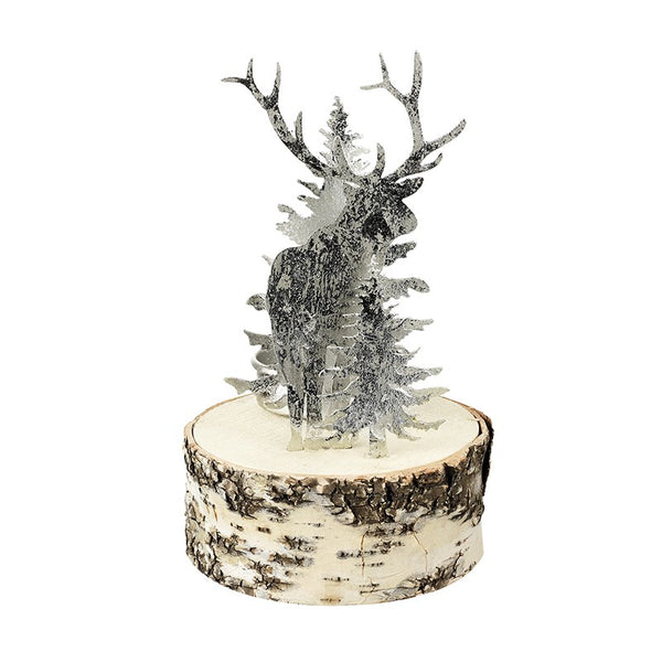 Moose and Birch Tree T-Light Holder