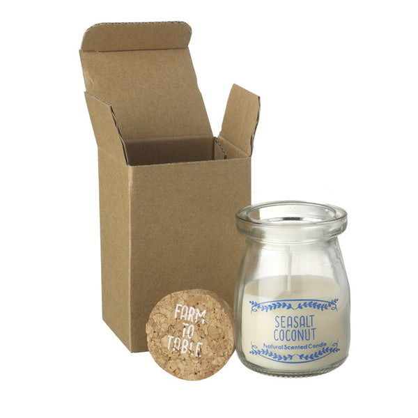 Seasalt Coconut Little Glass Candle with Cork Lid