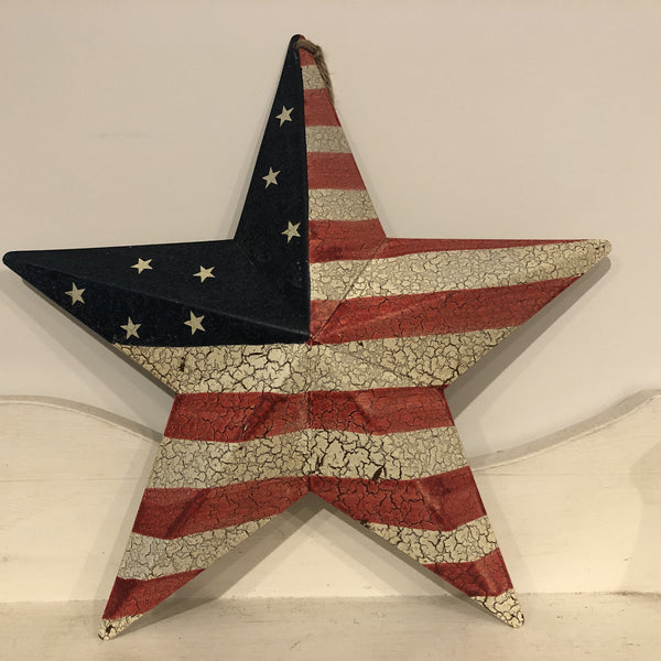 Distressed American Flag Star