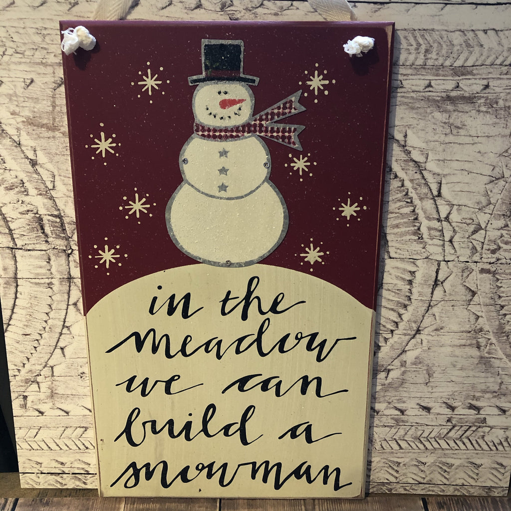 In the Meadow Snowman Sign