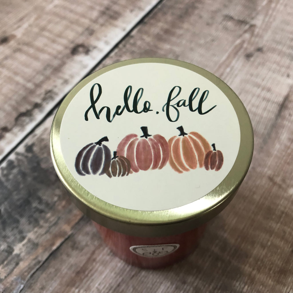 Hello Fall Pumpkin Harvest Candle