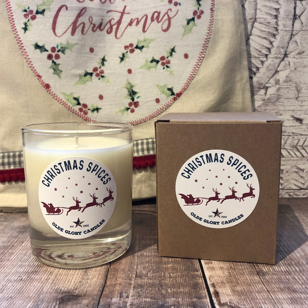 Christmas Spices Natural Soy Wax Candle