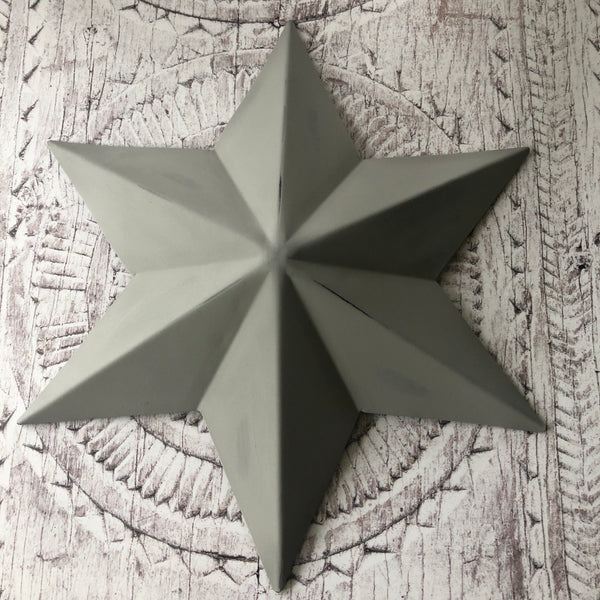 Medium Grey Metal Barn Star Decoration