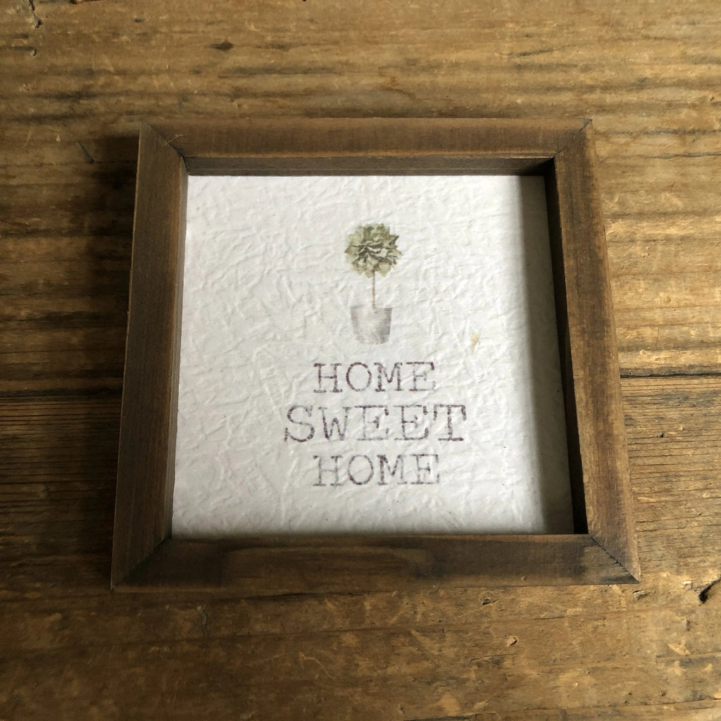 Home Sweet Home Framed Watercolour