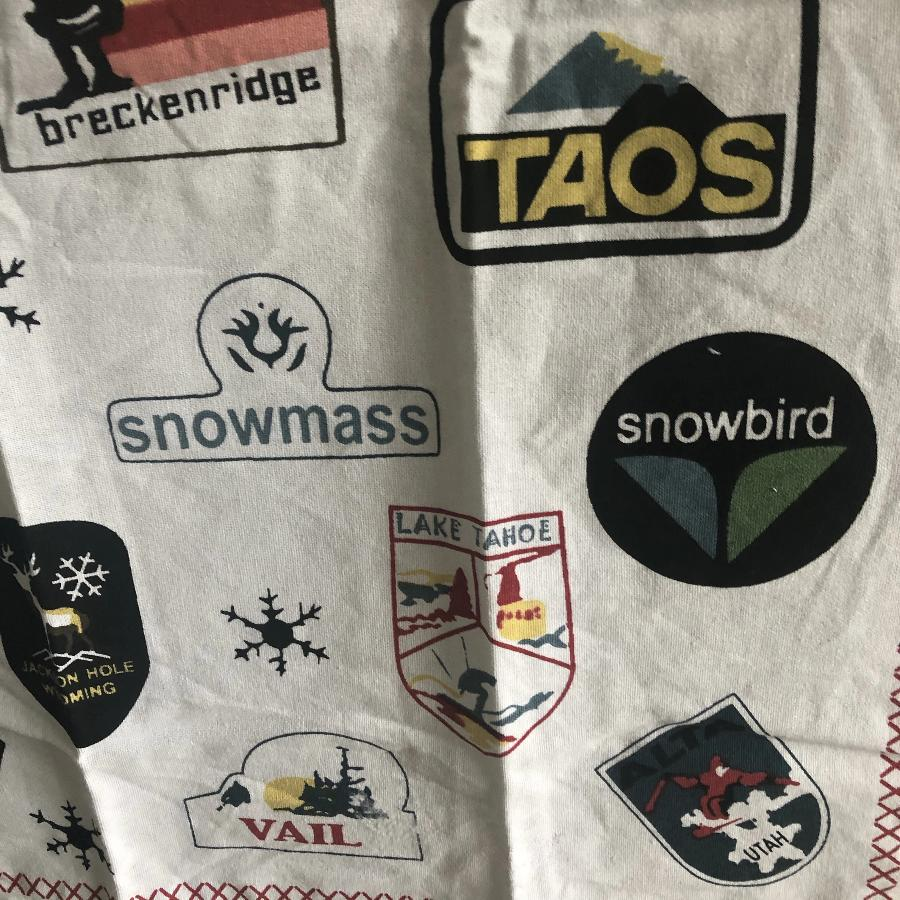 Ski Patches Tea Towel
