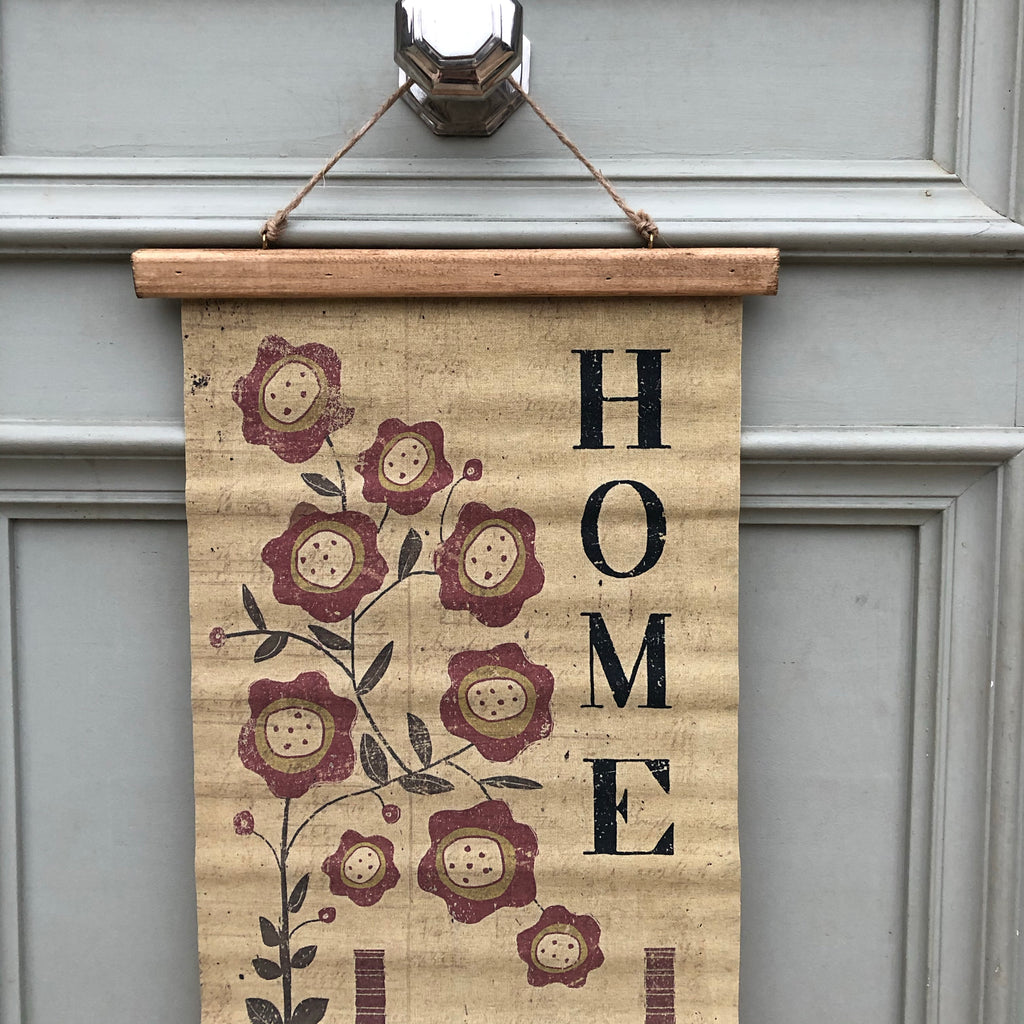 Saltbox Home Canvas Wall Hanging