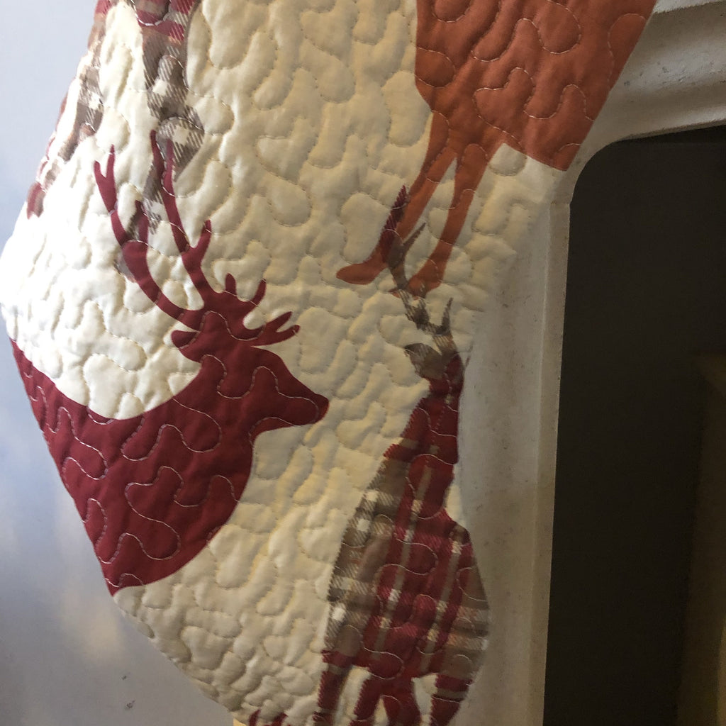 Quilted Stocking with Deer