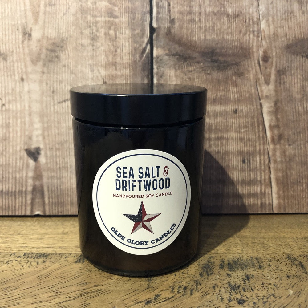 Seasalt and Driftwood Soy Candle with Paraben Free Fragrance Oil
