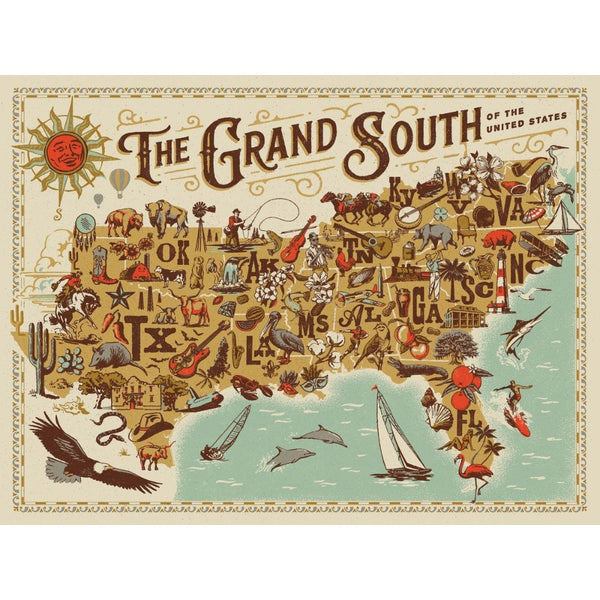 The Grand South of the United States Jigsaw Puzzle
