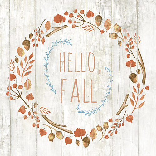 Hello Fall Folk Art Print UK