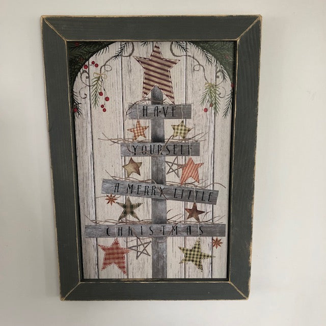 Merry Little Christmas Framed Sign