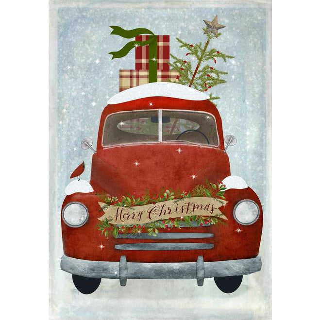 Merry Christmas Pickup Truck Block Decoration
