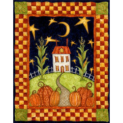 Pumpkin Moon Garden Flag