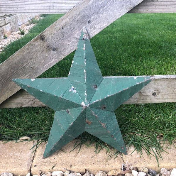 Green Rustic Amish Barn Star UK