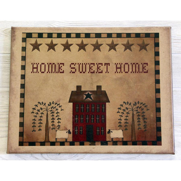 Home Sweet Home American Folk Art Canvas