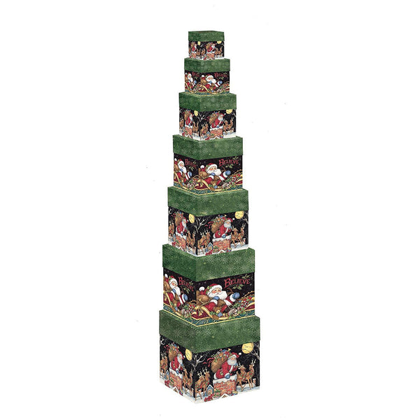 Lang Santa Believe Bob's Boxes Set of 7