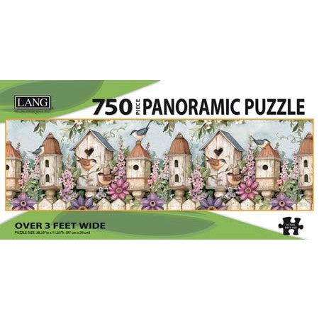 Lang Birdhouse Garden 750 Piece Panoramic Jigsaw