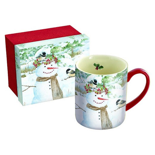 Lang Chickadee Snowman Mug & Box Set