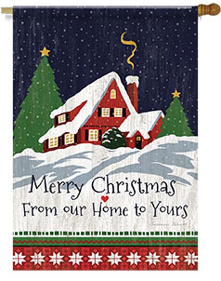 Lang Our Home to Yours Christmas Garden Flag in the UK
