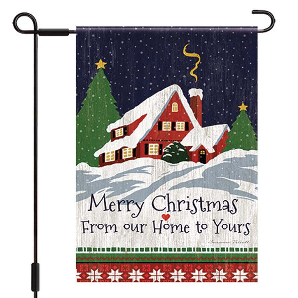 Lang Our Home to Yours Christmas Garden Flag UK