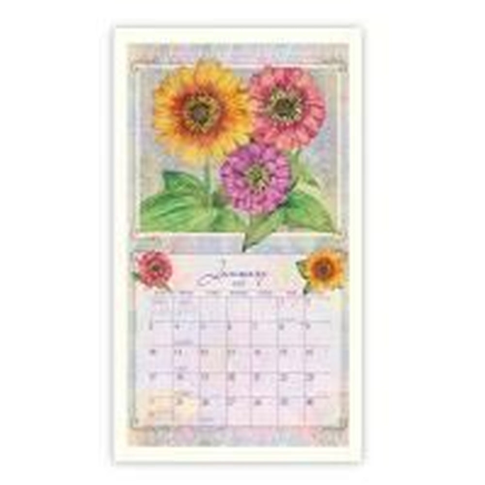 Lang Contemporary White Wooden Calendar Frame UK