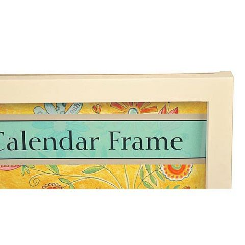 Lang Contemporary White Wooden Calendar Frame