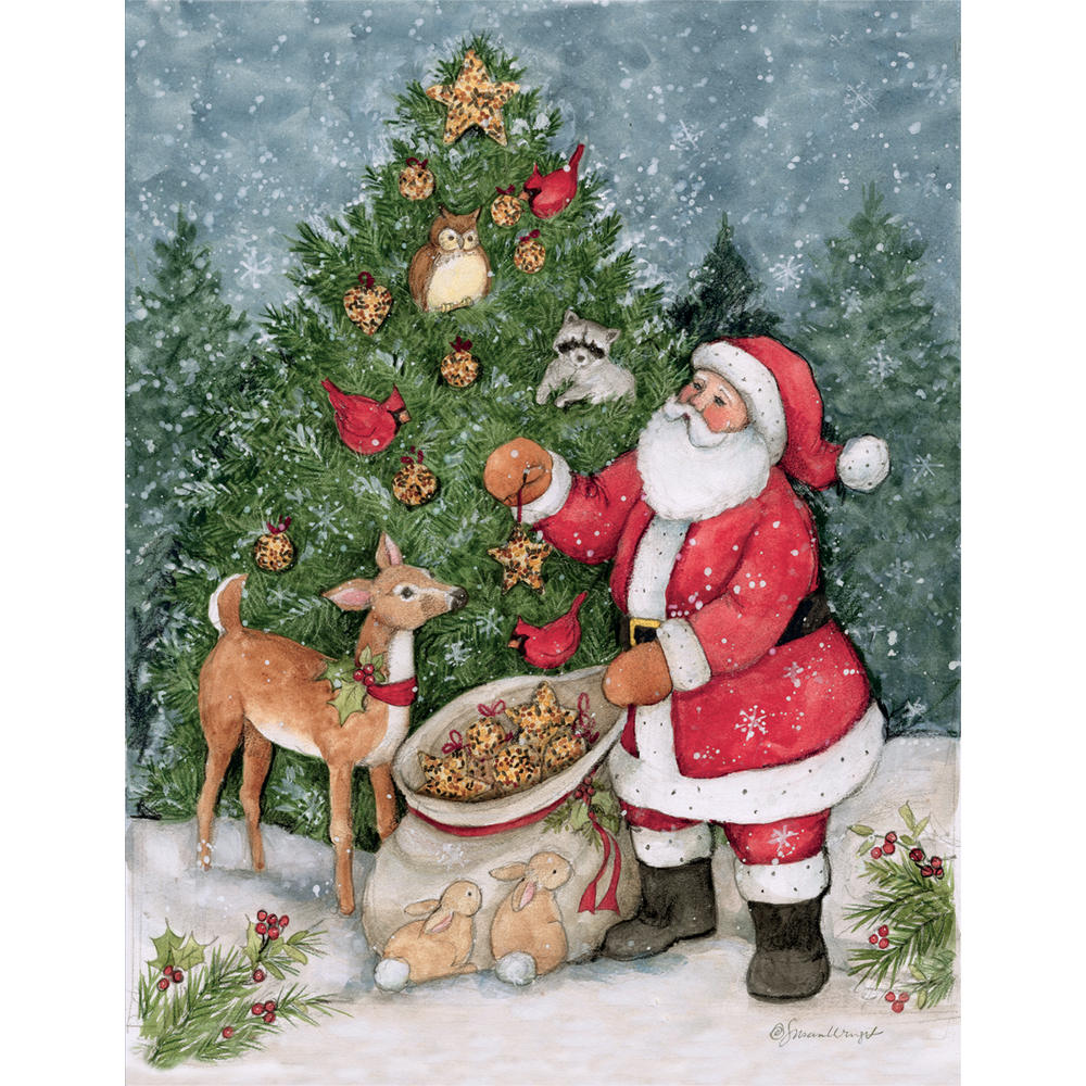 LANG Father Christmas Classic Christmas Cards UK