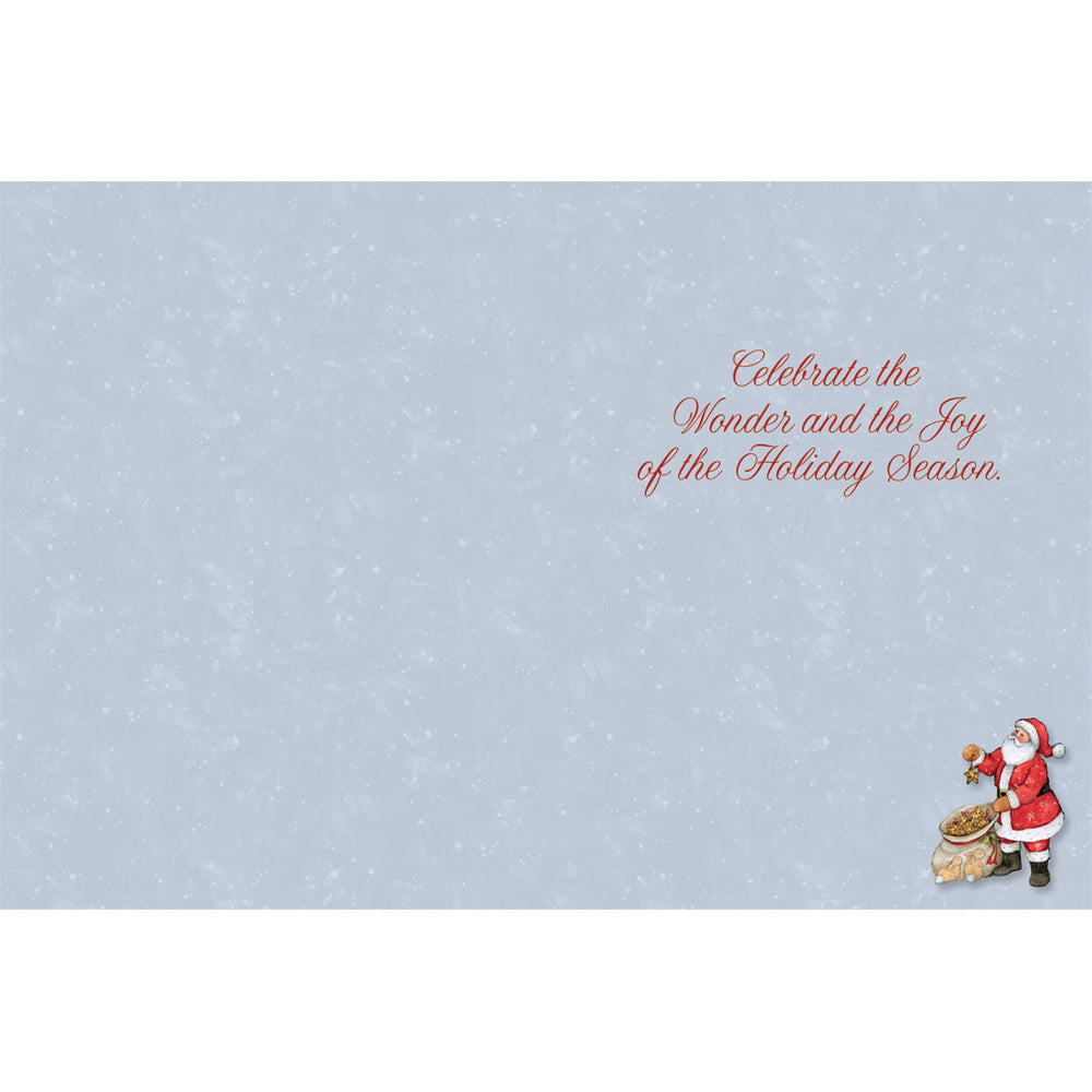 LANG Father Christmas Cards Inside Message