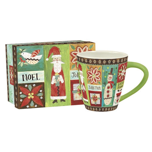 Lang Folksy Christmas Cafe Mug and Box Set
