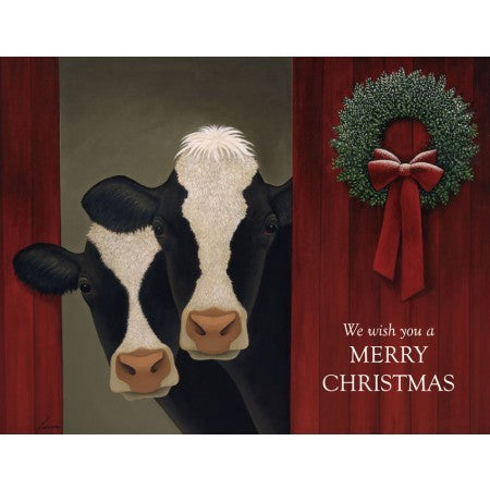 Lang Holiday Cows Boxed Christmas Cards UK