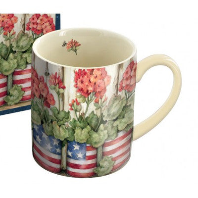 Lang Old Glory Patriotic Flower Mug and Box Set