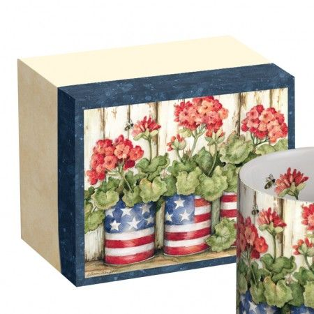 Lang Old Glory Patriotic Flower Mug and Box Set UK