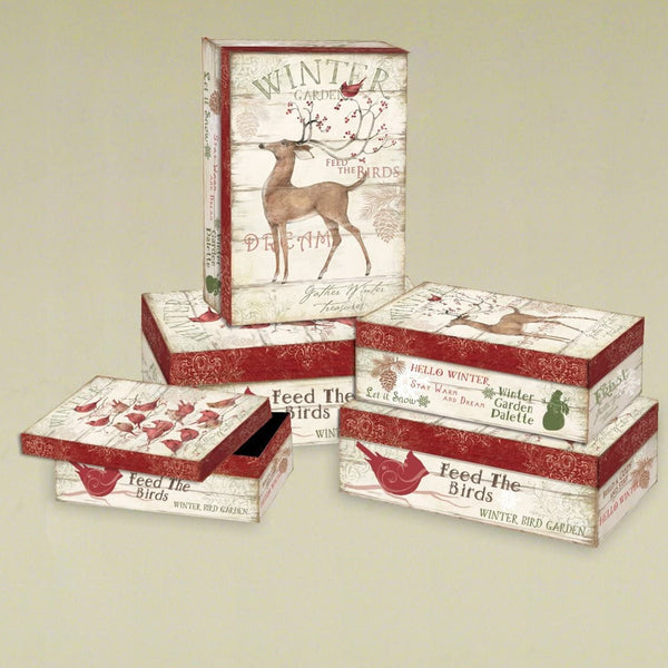 Lang Winter Pallet Set of 5 Rectangular Boxes