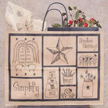 Large Folk Art Gift Bag