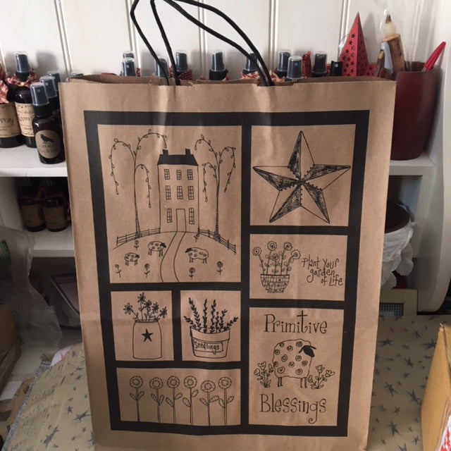 Tall Folk Art Gift Bag