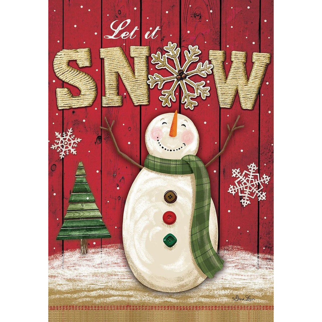 Let it Snow Snowman Flag