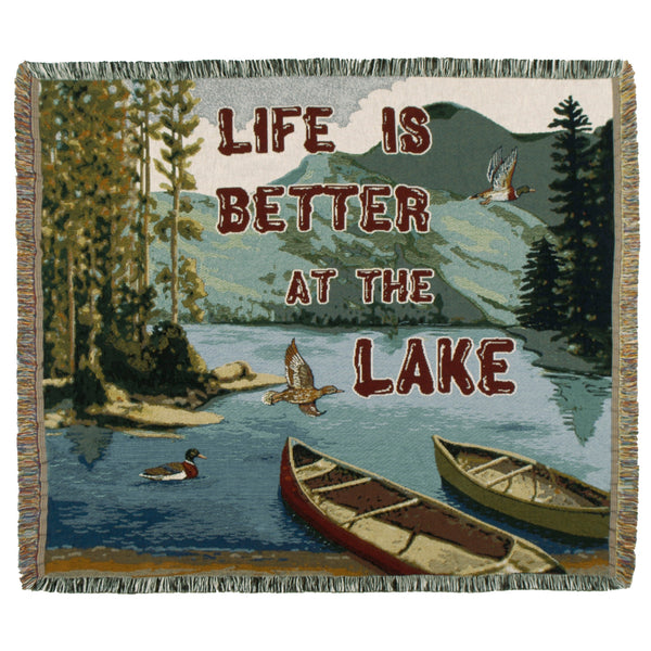 Life is Better at the Lake Throw