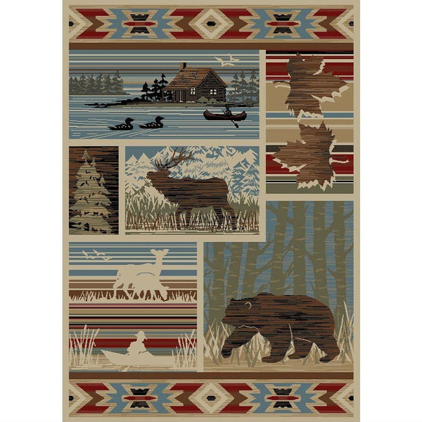 Maple Valley Log Cabin Style Rug UK
