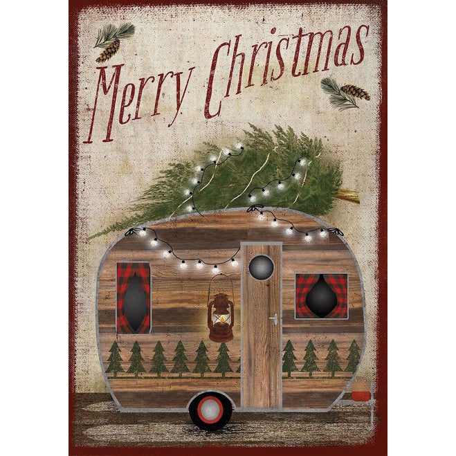 Merry Christmas Camper Garden Flag