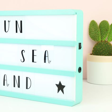 A4 Mint Green Wooden LED Cinema Light Box