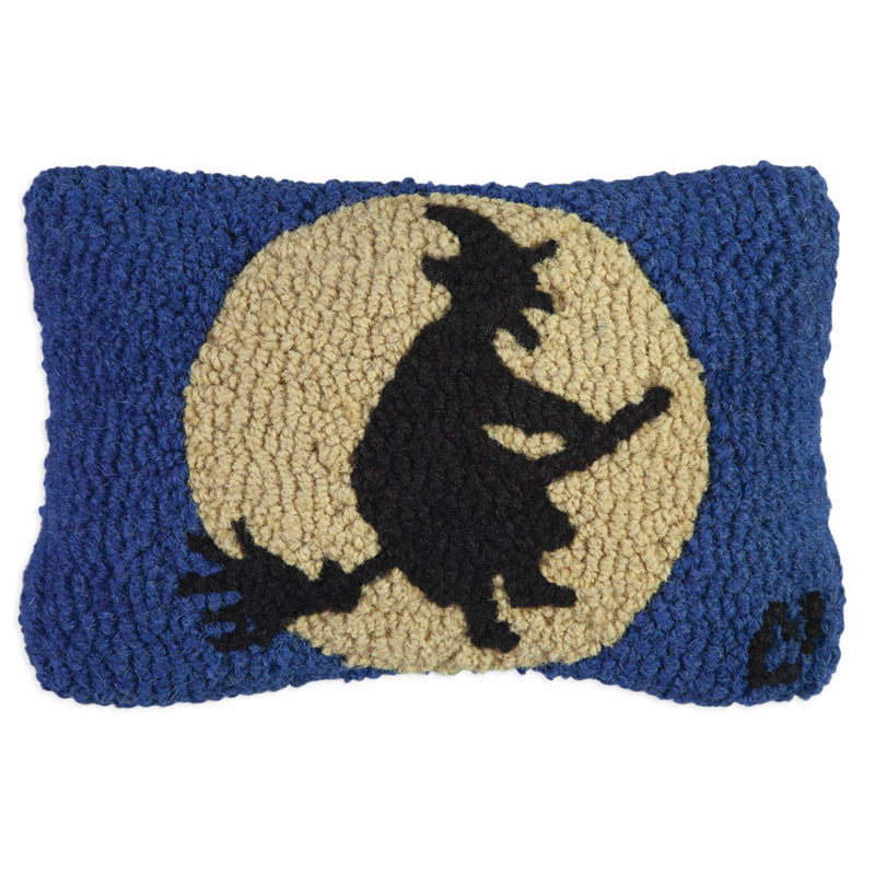 Wild Witch and Moon Hooked Cushion