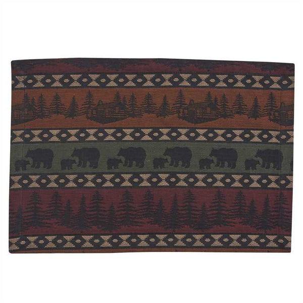 Mountain Bear and Trees Tablemats UK